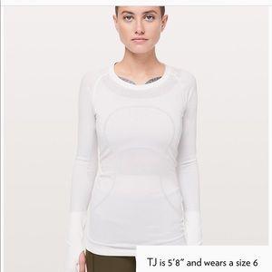 Lululemon white long sleeve top